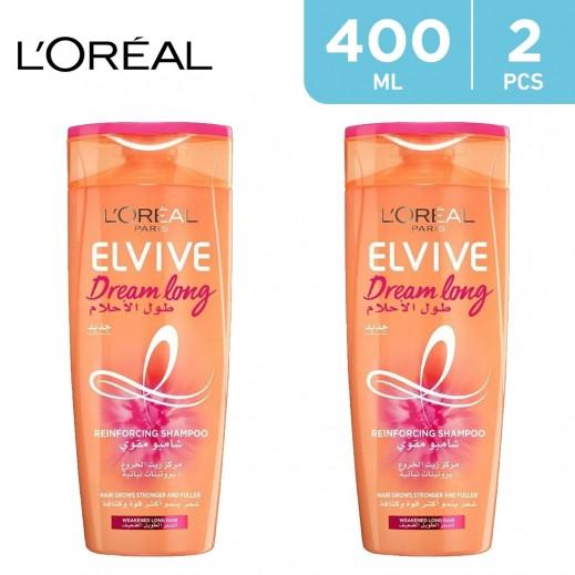 L'Oreal Elvive Dream Long Reinforcing Shampoo (2 x 400 ml)