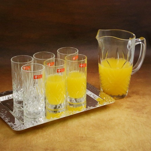 Imperial Crystal Cut Glass Water Set - 7 Pieces
