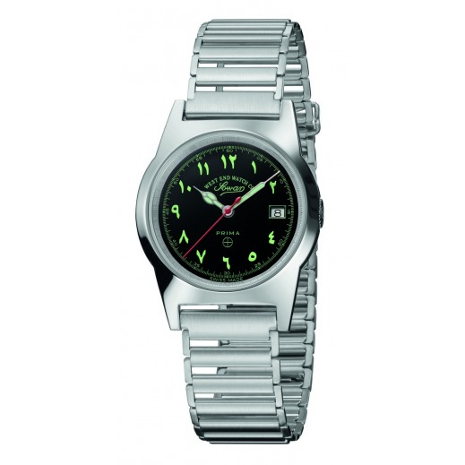 West End Stainless Steel Swiss Watch With Arabic Numbers