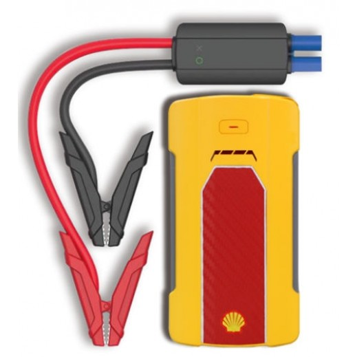Shell 7,000 mAh with USB Device Charger and LED Light Jump Starter  –Yellow