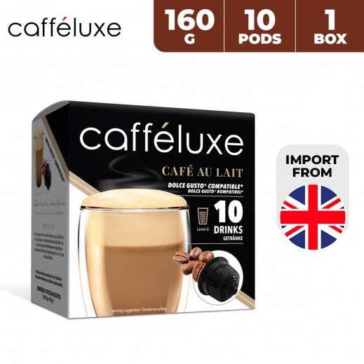 Caffeluxe Dolce Gusto Cafe Au Lait Coffee 10 Capsules 160 g
