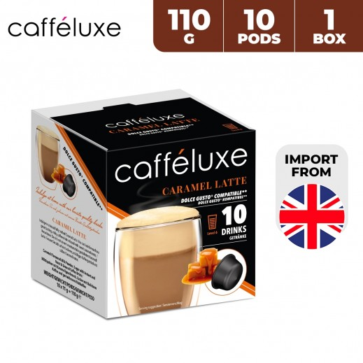 Caffeluxe Dolce Gusto Caramel latte Coffee 10 Capsules 110 g