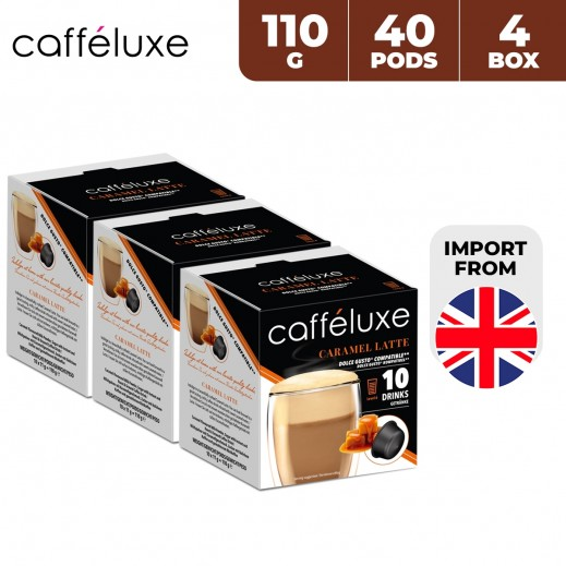 Caffeluxe Dolce Gusto Caramel Latte Coffee 40 Capsules 4 x 110 g