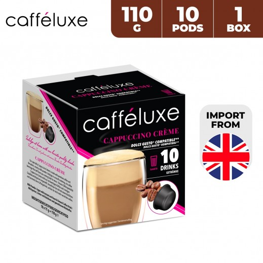 Caffeluxe Dolce Gusto Cappuccino Creme Coffee 10 Capsules 110 g