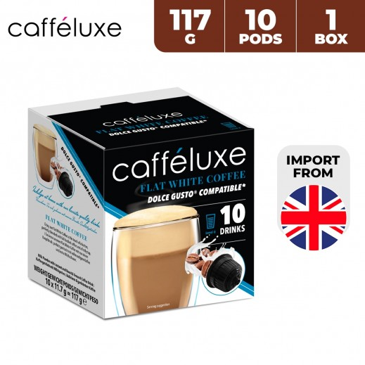 Caffeluxe Dolce Gusto Flat White Coffee 10 Capsules 117 g