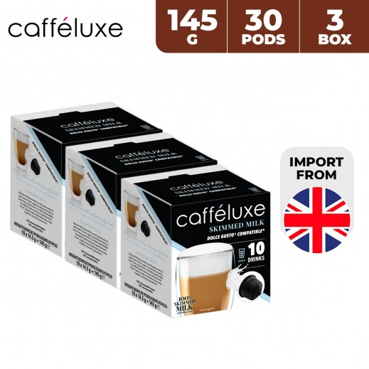 Caffeluxe Dolce Gusto Skimmed Milk Coffee 30 Capsules 3 x 145 g