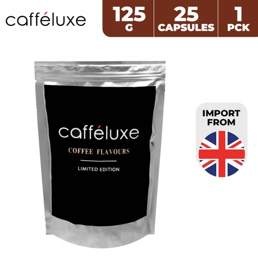 Caffeluxe Limited Edition Coffee Flavours 125 g (25 Capsules)