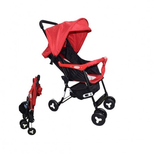 Seebaby Push Chair+ Roof  Red