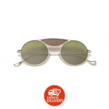 58963c663785 Eyepetizer Gold & Green Unisex Sunglasses 49 mm