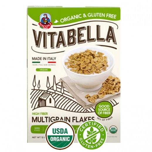 فيتابلا - رقائق متعددة الحبوب العضوية الخالية من الجلوتين الغنية بالألياف 300 جم
