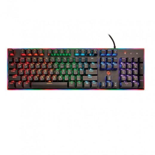 برودو - لوحة مفاتيح  الميكانيكية لالعاب الفيديو - اسود