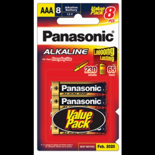 باناسونيك – بطارية ألكالاين 1.5 فولت قياس AAA (عبوة 8 +4 حبة)