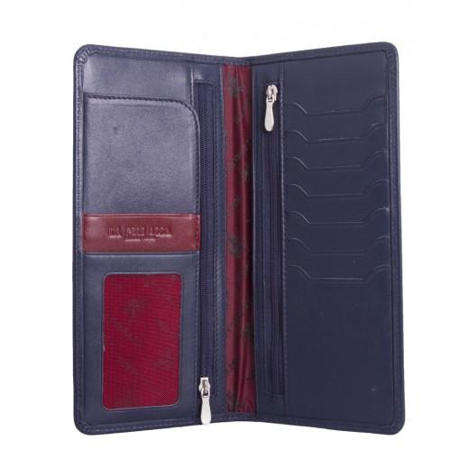 بولو – محفظة جلدية لكلا الجنسين موديل PLCUZ5736 – أزرق