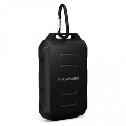 RAVPower - بطارية إحتياطية بسعة 10050 مللي أمبير مقاومة للماء - مموه أسود
