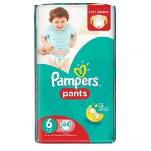 بامبرز - حفاضات بانتس بنطال للأطفال مقاس 6 اكسترا لارج (16+ كجم) 44 حفاضة