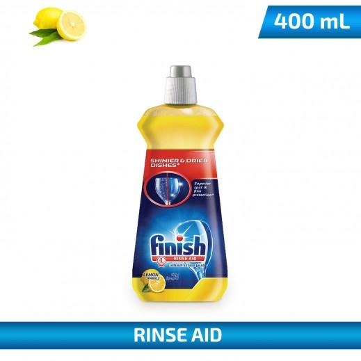 فينيش – سائل الشطف واللمعان لغسالات الأطباق المنزلية بالليمون 400 مل