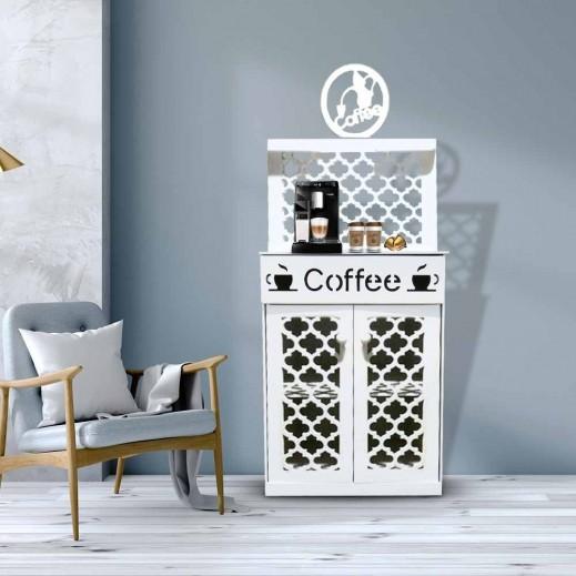 ركن القهوة الخشبي لتنظيم وترتيب مستلزمات القهوة  - يتم التوصيل بواسطة El Ghaly Workshop