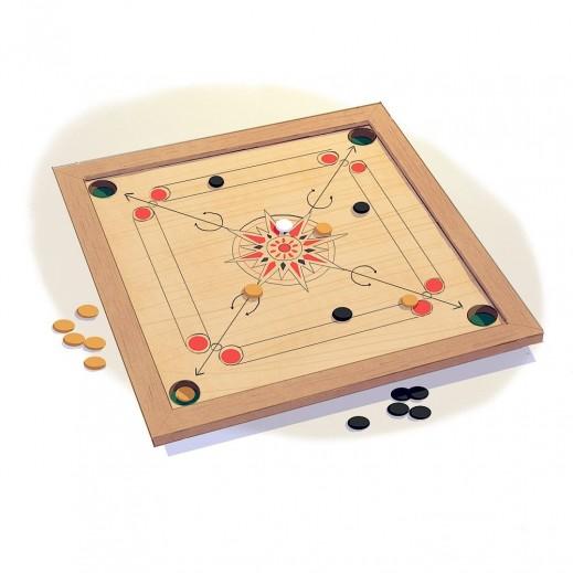لعبة الكيرم الخشبية 100 × 100 سم