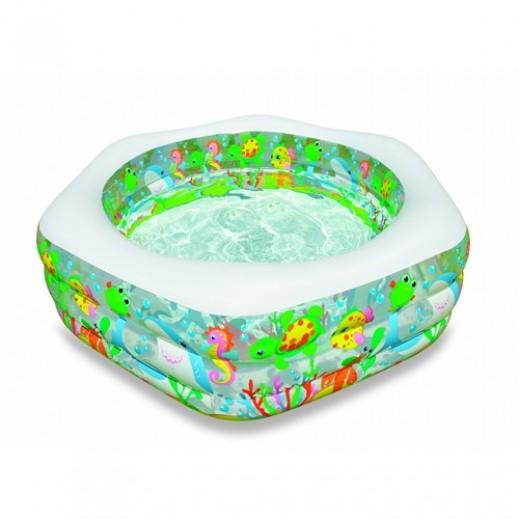 إنتكس – حمام سباحة عائلي مزخرف بشعاب المحيط  191 × 178 × 61 سم