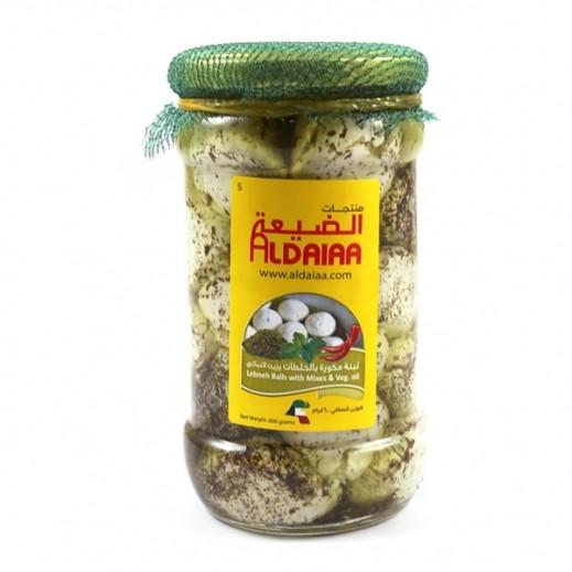 الضيعة - لبنة مكورة بالزعتر والزيت النباتي 600 جم