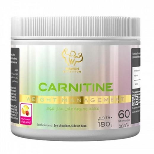 واوان بروتين - كارنيتين - نكهة الفواكه 180 جم - يتم التوصيل بواسطة واوان خلال 2 أيام عمل