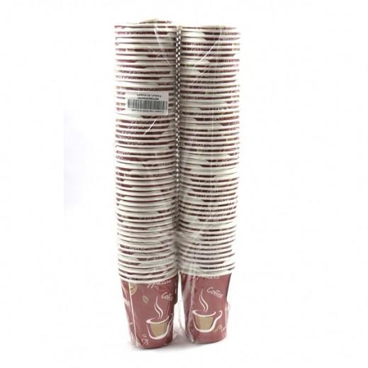 أكواب ورقية مع مقبض 266 مل (2 × 50 حبة)