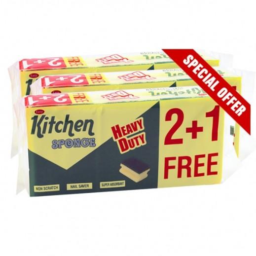 إيزي كيتشن – اسفنجة تنظيف المطبخ 2+1 مجاناً (3 عبوة)