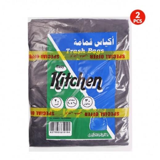 فتوح الكويت - أكياس نفايات 50 جالون (20 حبة) + 30 جالون (20 حبة)