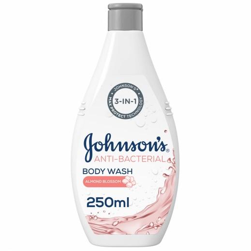 جونسون - سائل إستحمام مضاد للبكتريا بزهور اللوز 250 مل