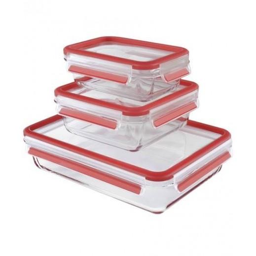 تيفال - مجموعة حفظ الطعام ماسترسيل من الزجاج 3 حبة