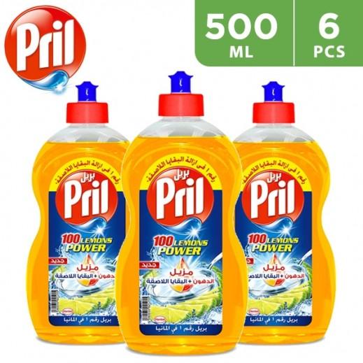 بريل – سائل غسيل الصحون متعدد الاستخدام برائحة الليمون 6 × 500 مل