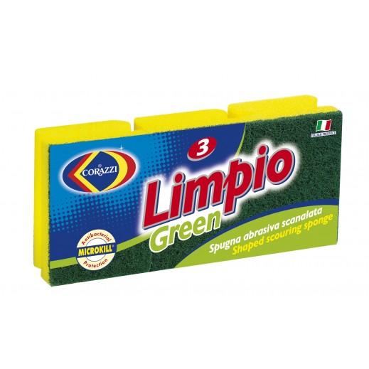كوراتزي - إسفنجة تنظيف الأواني لمبيو - 3 حبة