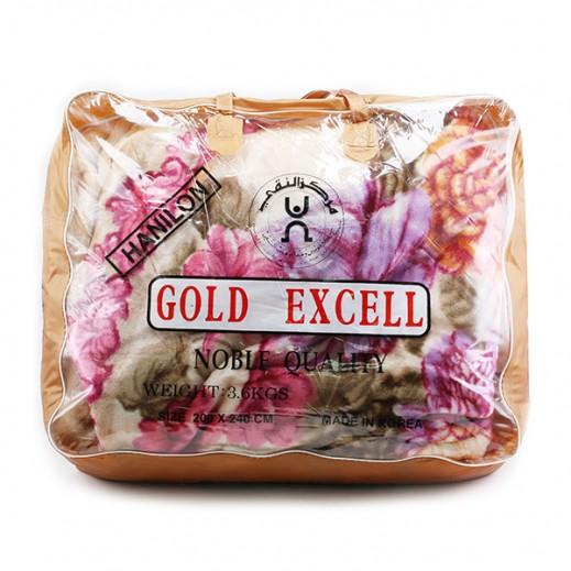 جولد إكسل – بطانية كوري 200 × 240 سم - بيج