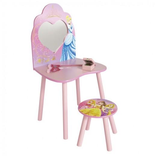 طاولة التزيين بمرآة وكرسي صغير للبنات من ديزني - يتم التوصيل بواسطة Taby Group