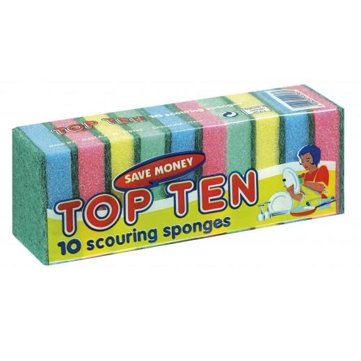 كوراتزي - إسفنجة تنظيف الأواني توب تين - 10 حبة