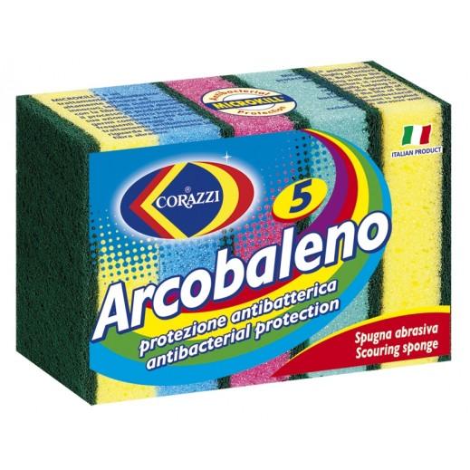 كوراتزي - إسفنجة تنظيف الأواني أركوبالينو - 5 حبة