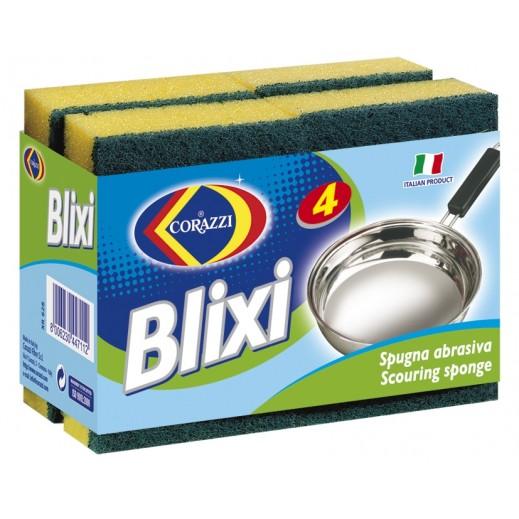 كوراتزي - إسفنجة تنظيف الأواني بليكسي - 4 حبة