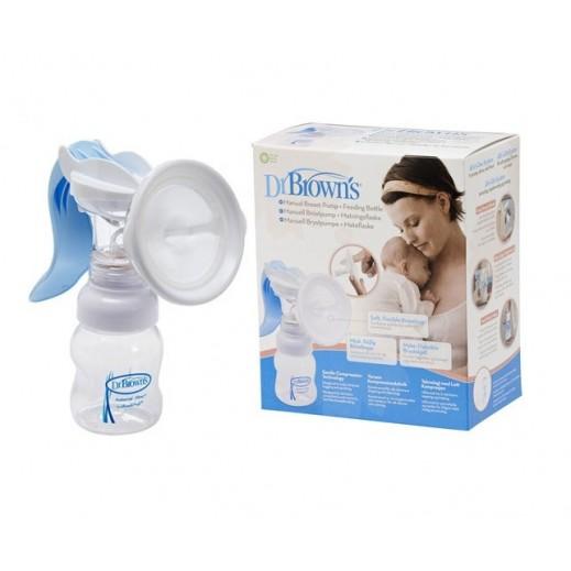 دكتور براونز – شفاط الحليب اليدوي مع رضاعة أطفال بعنق عريض