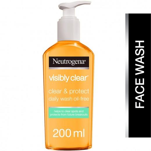 نيوتروجينا - غسول للوجه فيزيبلي كلير نقاء وحماية مرطب خال من الزيوت 200 مل