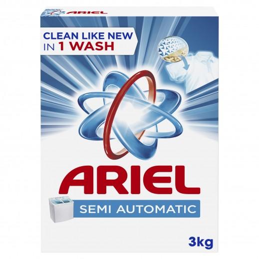 """آريال - مسحوق الغسيل الأزرق للغسالات العادية """" عطر أصلي """" 3 كجم"""