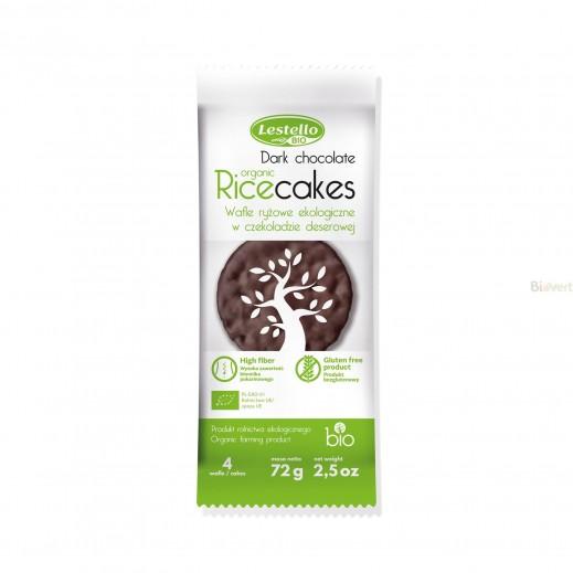 ليستلو– كعك الأرز العضوية والخالية من الغلوتين مع الشوكولاته الداكنة 72 جم