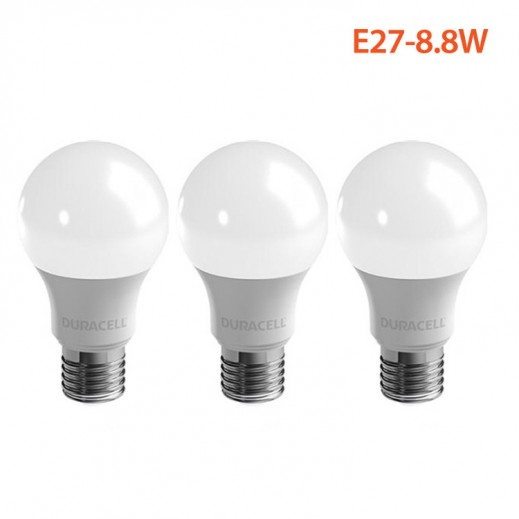 Wholesale-Duracell LED GLS A60-E27-8.8W (Pack of 3)