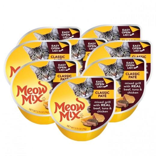 ميو ميكس – طعام القطط - وجبة تونا أصلية مع الدجاج 8×78 جم - أسعار الجملة