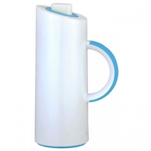 Xtra Mono Vacuum Flask White and Blue - 1 L