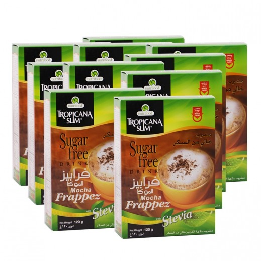 تروبيكانا سلم – مشروب فرابيز الموكا خالي من السكر 8 أكياس × 15 جم