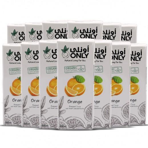 أونلي - عصير البرتقال العضوي 27 × 200 مل