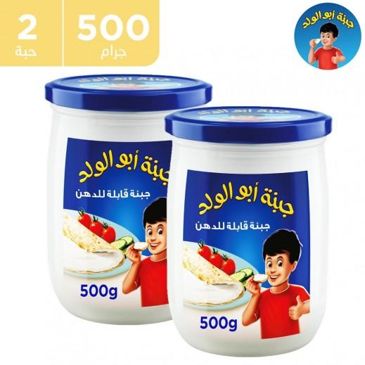 أبوالولد - جبنة كريم قابلة للدهن 2 × 500 جم