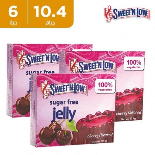 سويت أن لو - مسحوق حلوى الجيلي خالي من السكر بنكهة التوت 6 × 10.4 جم