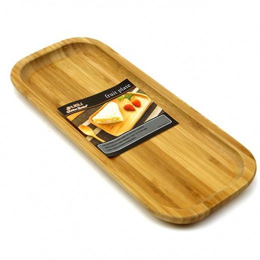 طبق خشبي مستطيل للاستخدام المتنوع