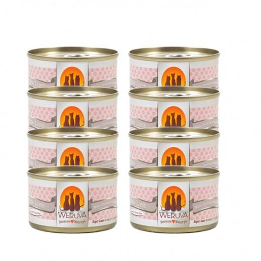 ويروفا – طعام القطط كبد دجاج في مرق 8 × 85 جم